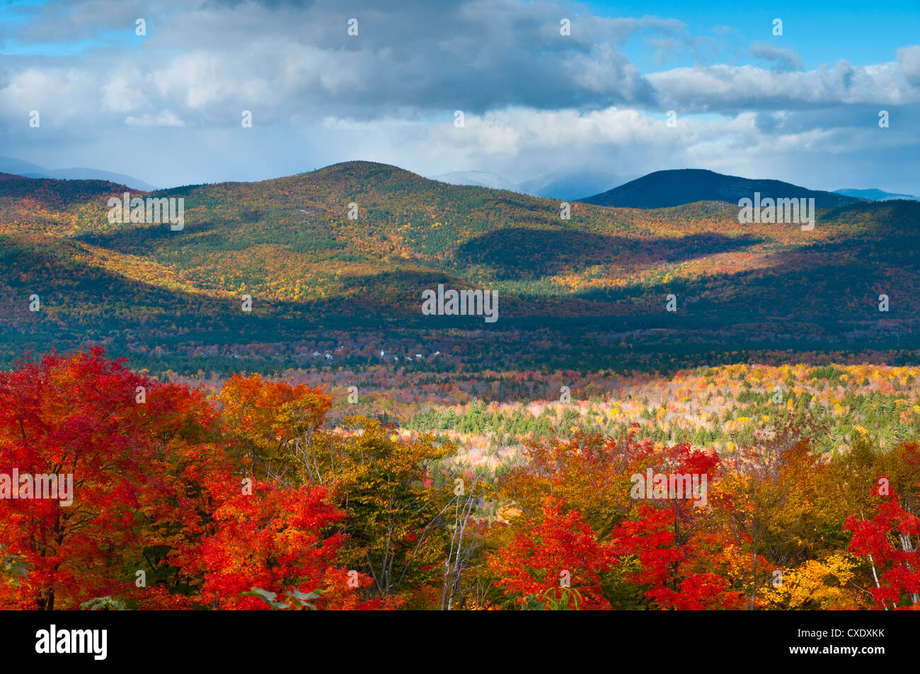 White Mountains National Forest, New Hampshire, Nueva Inglaterra, los Estados Unidos de América, América Imagen De Stock