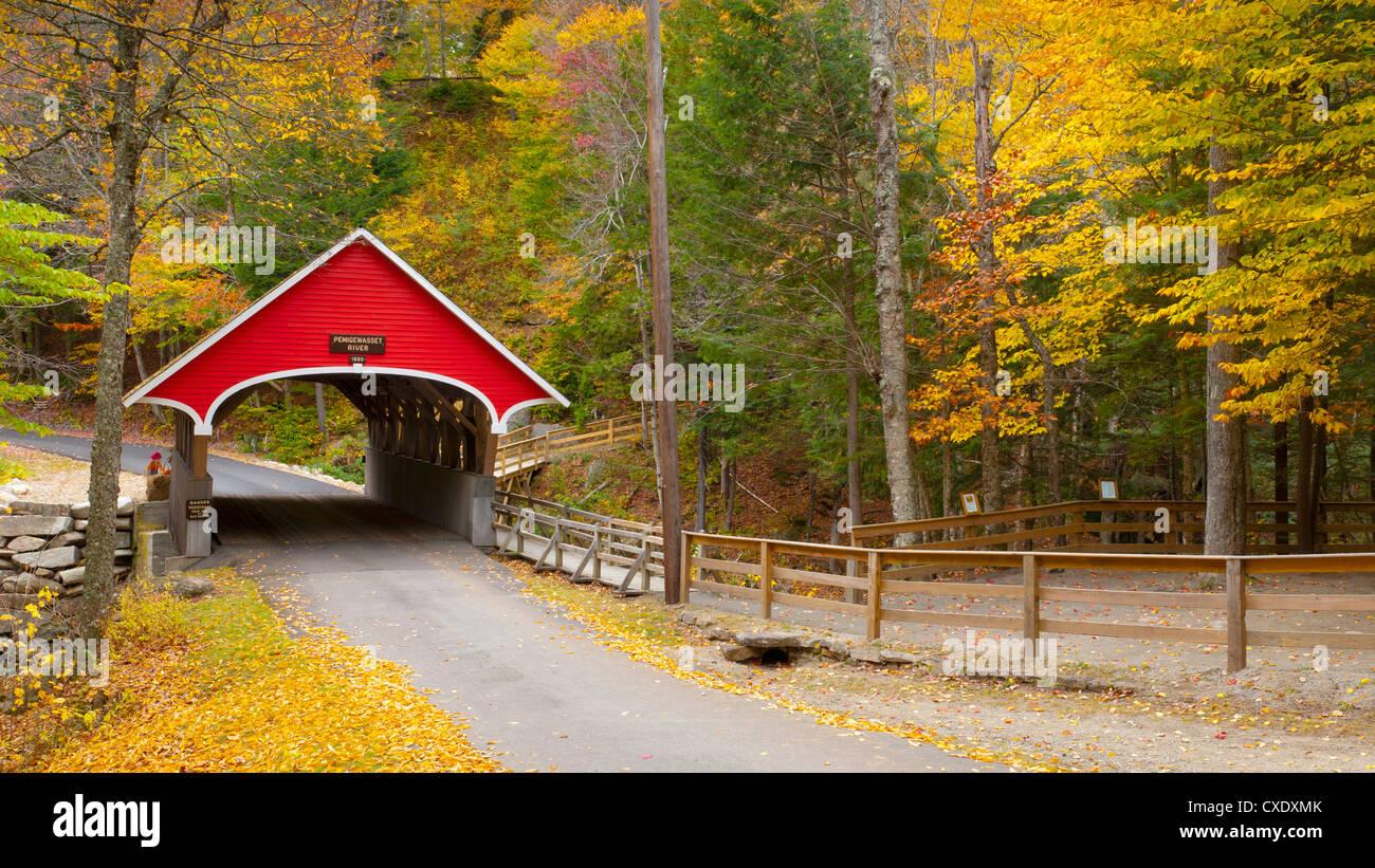 Franconia Notch State Park, New Hampshire, Nueva Inglaterra, los Estados Unidos de América, América del Imagen De Stock
