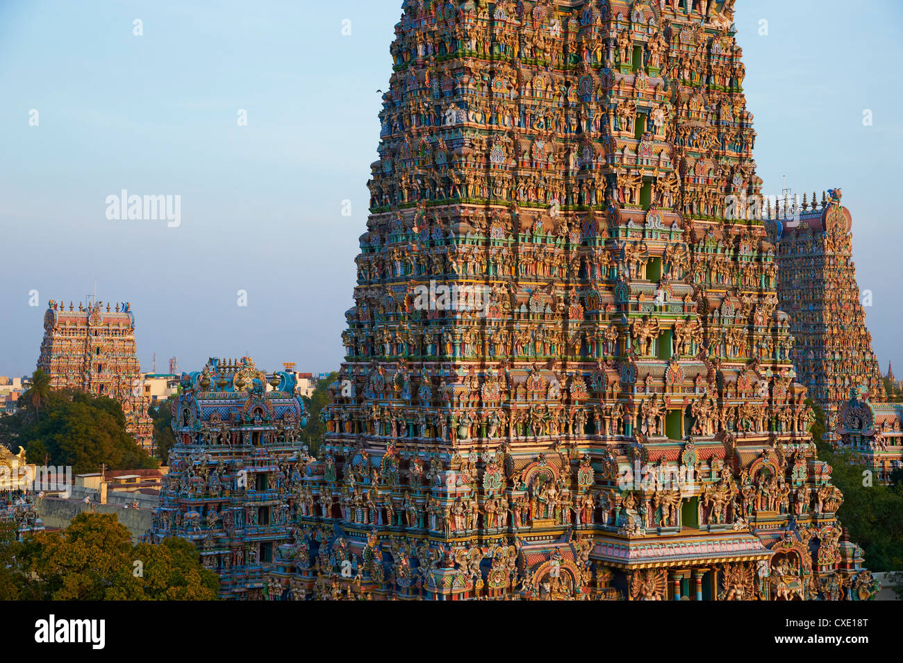 Sri Meenakshi temple, Madurai, Tamil Nadu, India, Asia Imagen De Stock