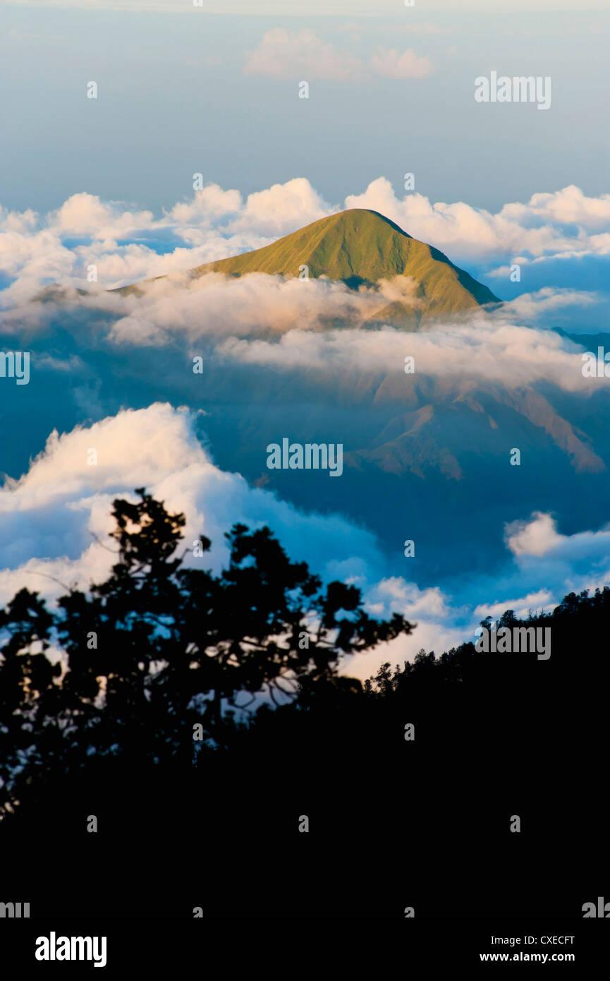 b6c3bca1c5cb Cumbre de la montaña que se eleva por encima de las nubes tomada desde el  Monte