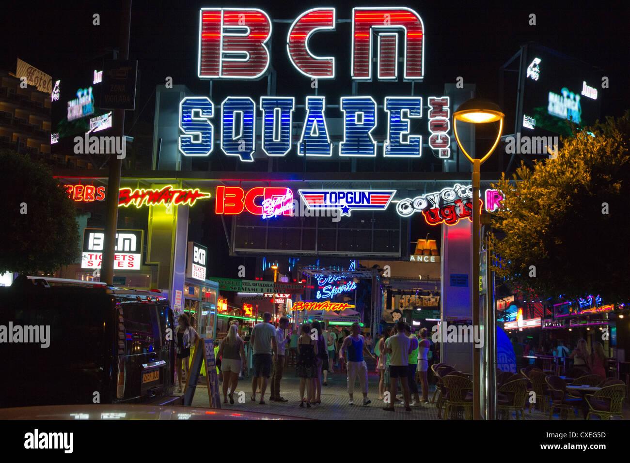 plaza de bcm discoteca firmar magaluf mallorca baleares