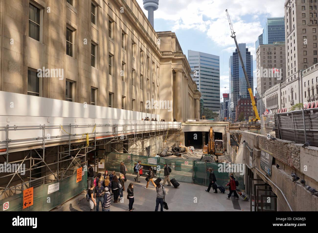 Union Station reparaciones renovaciones, Toronto, septiembre de 2012 Imagen De Stock
