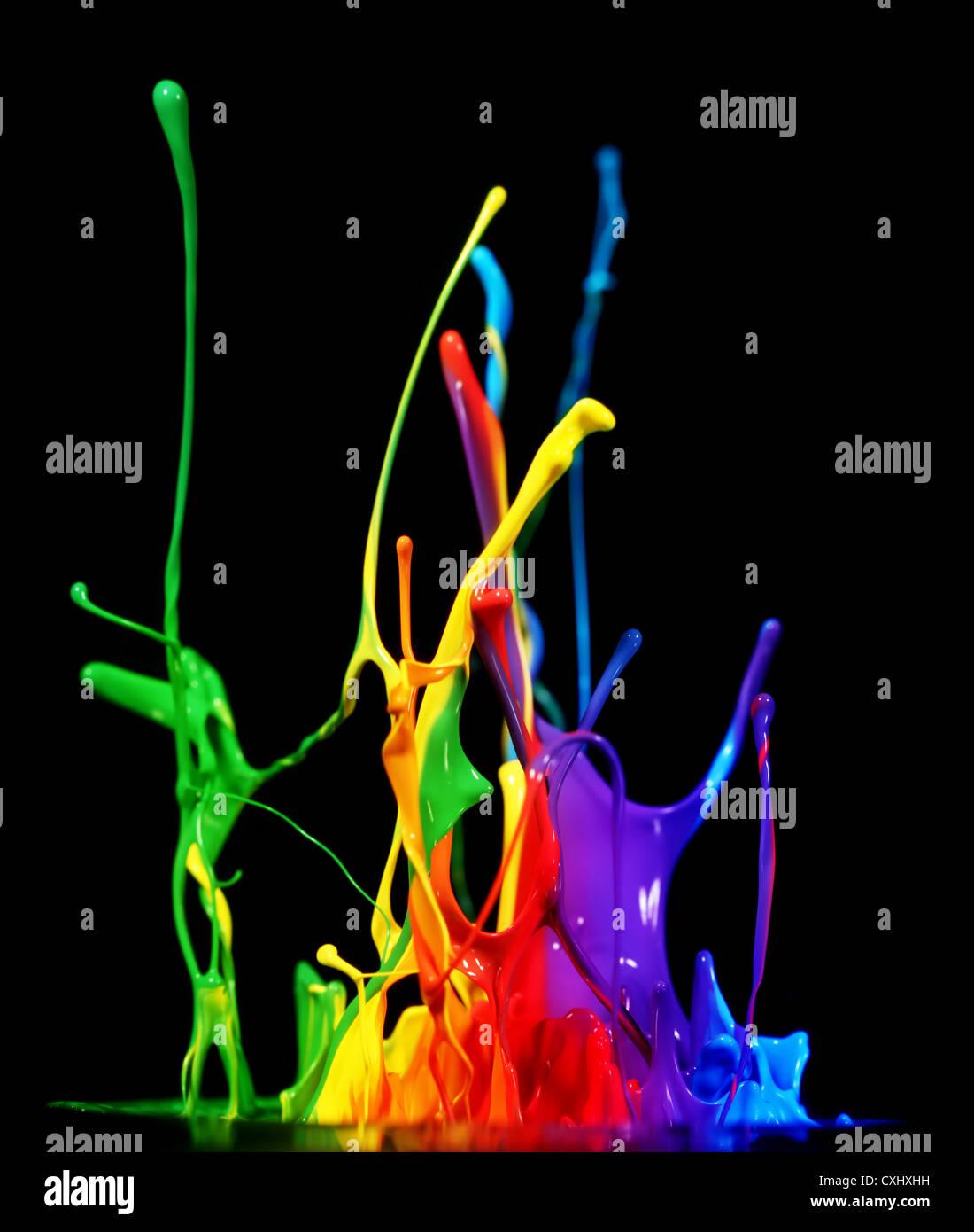 Blue colour splash im genes de stock blue colour splash fotos de stock alamy - Salpicaduras de pintura ...