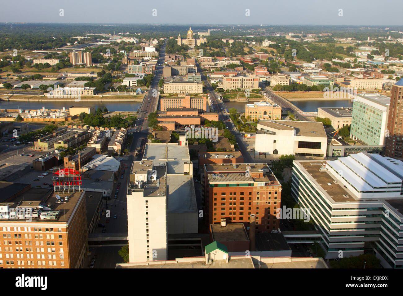 Des Moines Iowa Skyline Imágenes De Stock & Des Moines Iowa Skyline ...