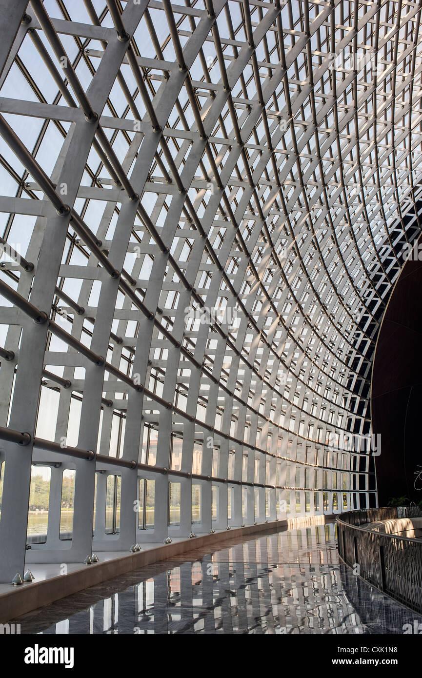 Estructura metálica del edificio, el Gran Teatro Nacional de China. Imagen De Stock