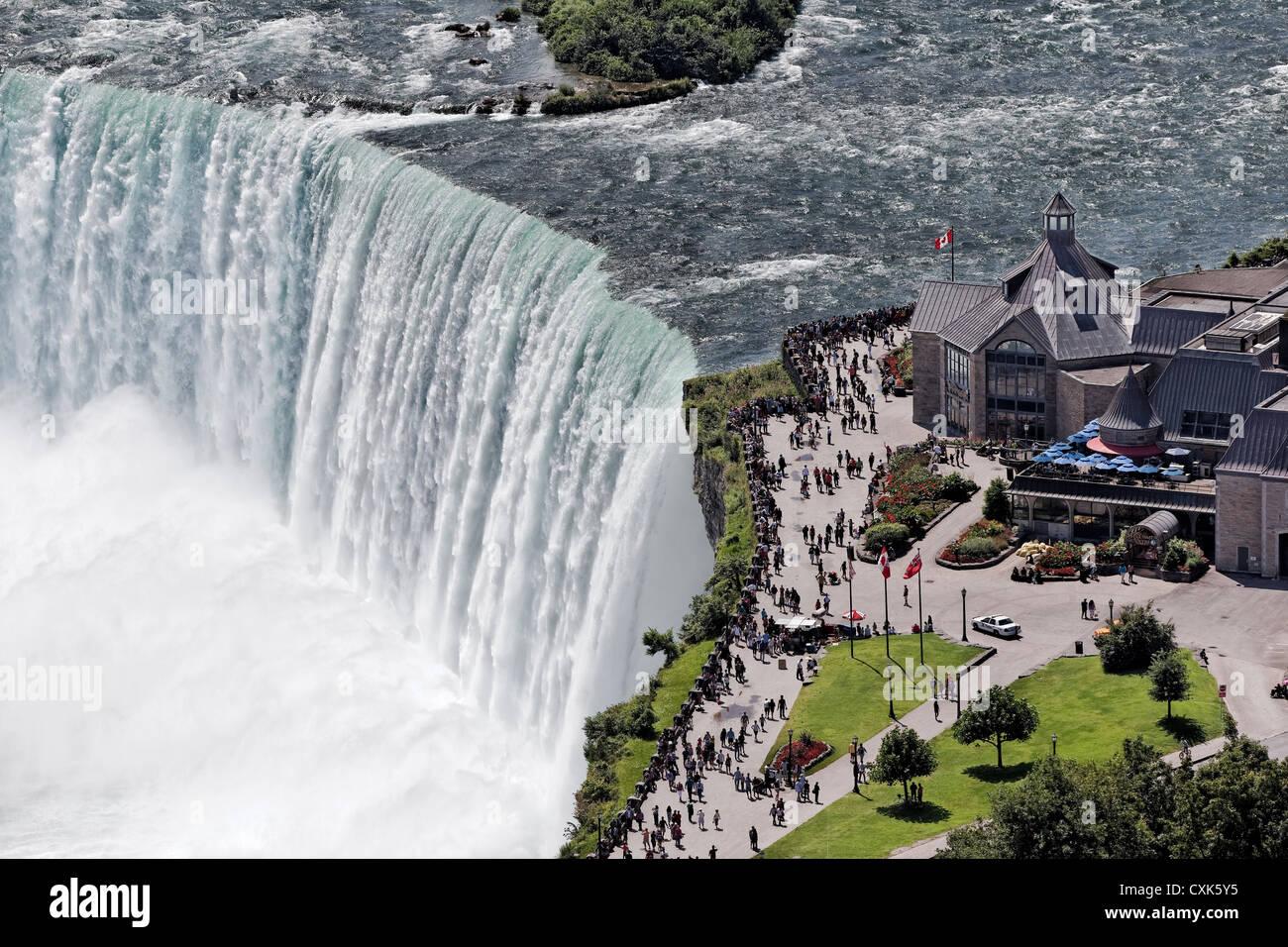 Las Cataratas de La Herradura en Niagara Falls, Ontario, Canadá Foto de stock