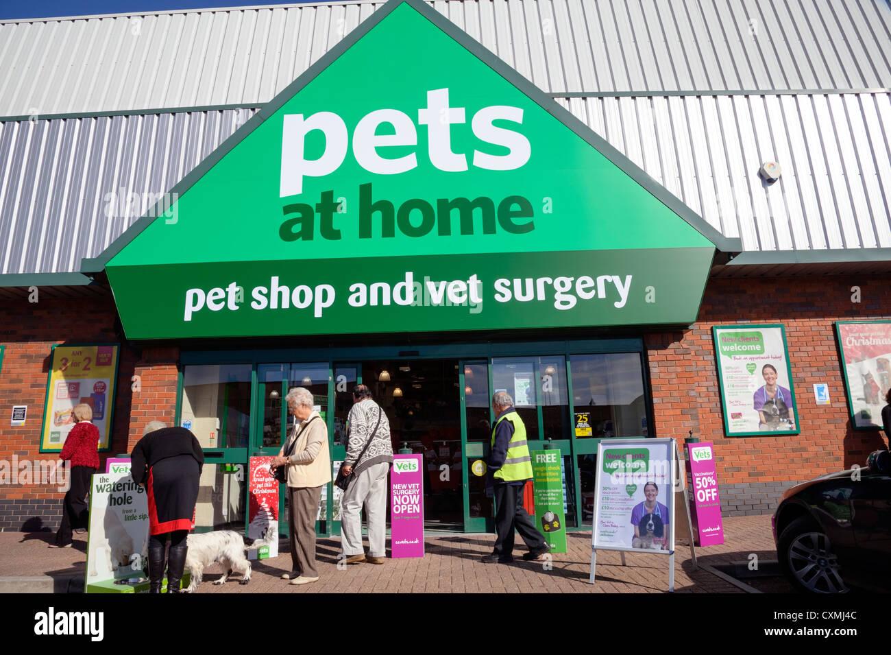 Tienda de mascotas en casa, en Cheltenham, Reino Unido. Imagen De Stock