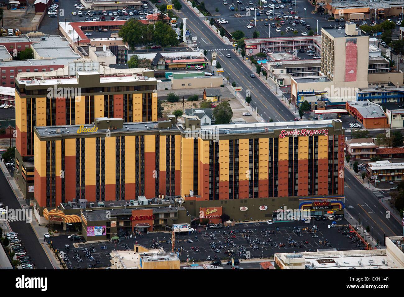 Fotografía aérea Sands Regency Reno, Nevada Imagen De Stock