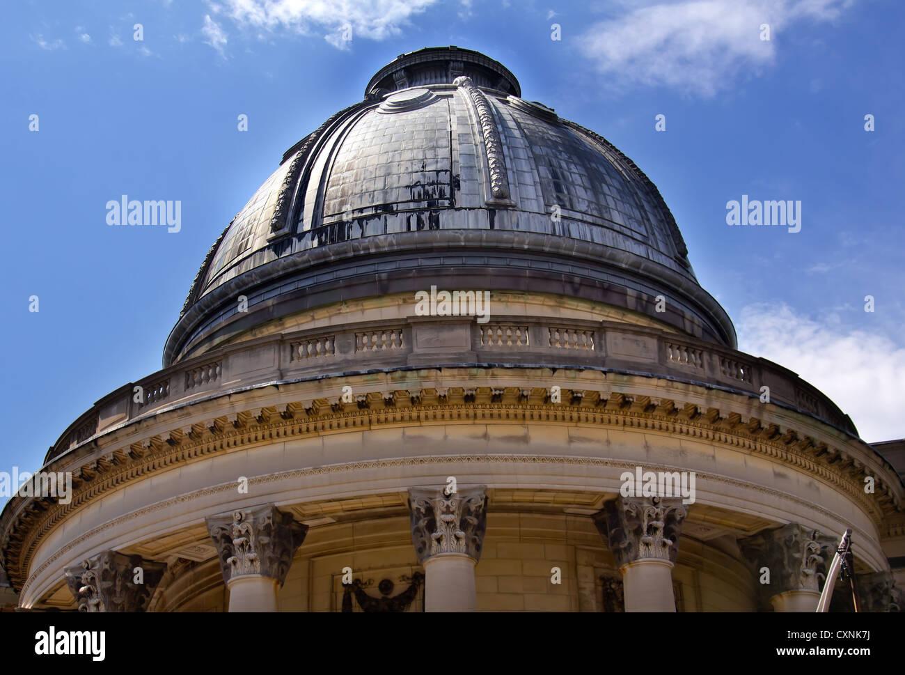 Woolsey Yale University School of Music Hall edificio Victoriano ornamentado Domo Torres New Haven Connecticut Foto de stock