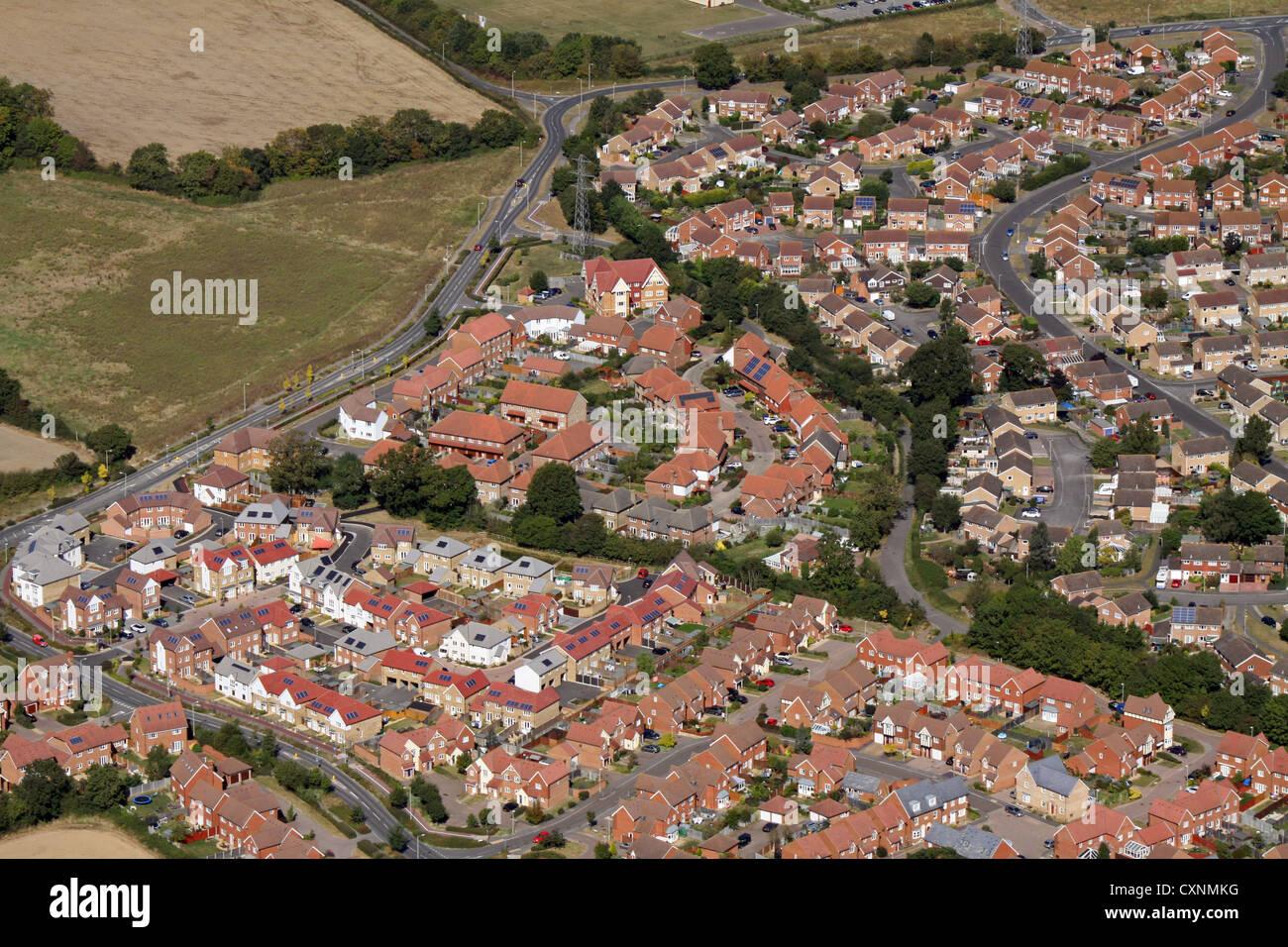 Vista aérea de casas modernas Imagen De Stock
