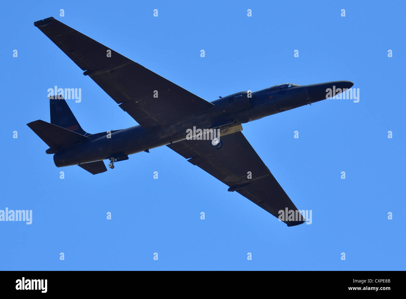 Fuerza Aérea estadounidense U-2 Dragon Lady, aviones de reconocimiento y vigilancia de inteligencia desde la Imagen De Stock