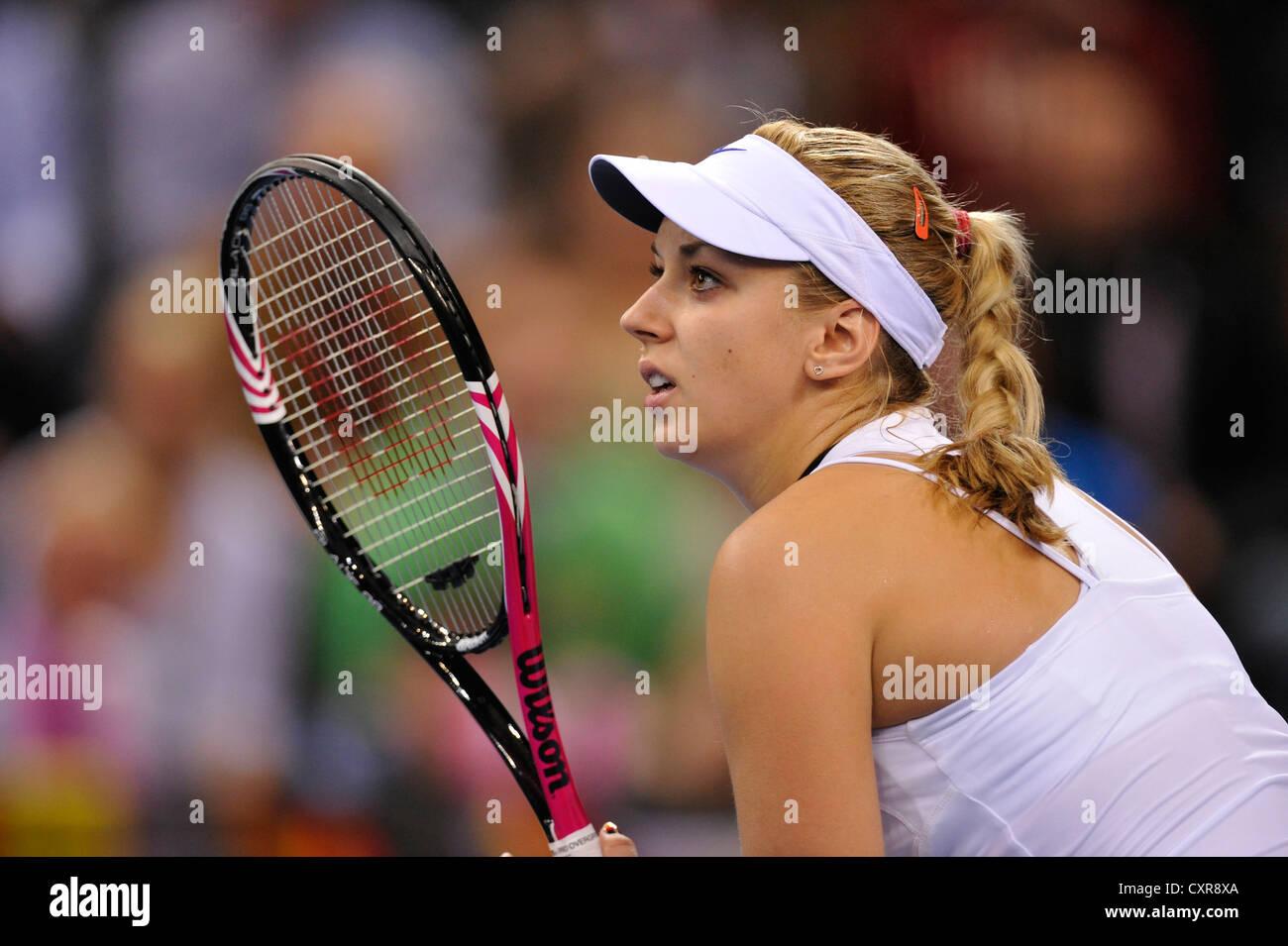 Sabine Lisicki, GER, partido de tenis internacional, Alemania vs. República Checa, FedCup, Federaciones Copa, Grupo Mundial 2012 Foto de stock