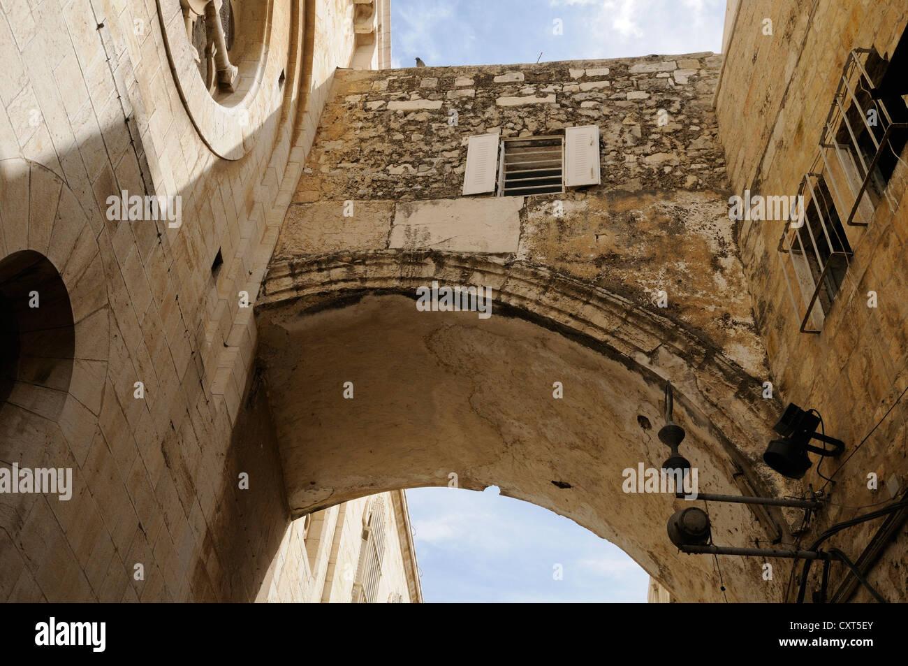 Arco del Ecce Homo, la Vía Dolorosa, Jerusalén, Israel, Oriente Medio Imagen De Stock