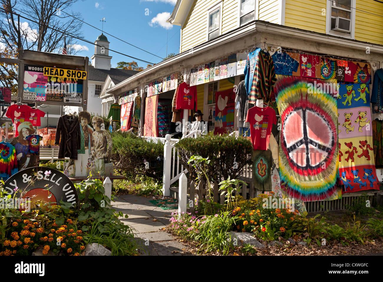 Un 'head shop' en Woodstock, Estado de Nueva York, en los Catskills Imagen De Stock