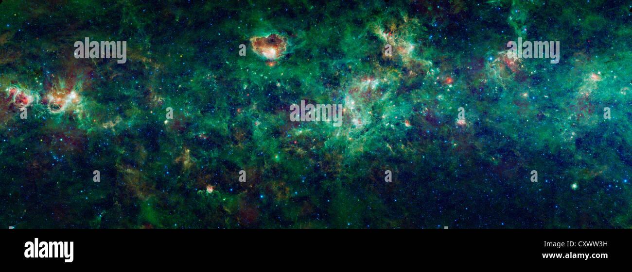 Sección de nuestra galaxia, la Vía Láctea. Imagen De Stock