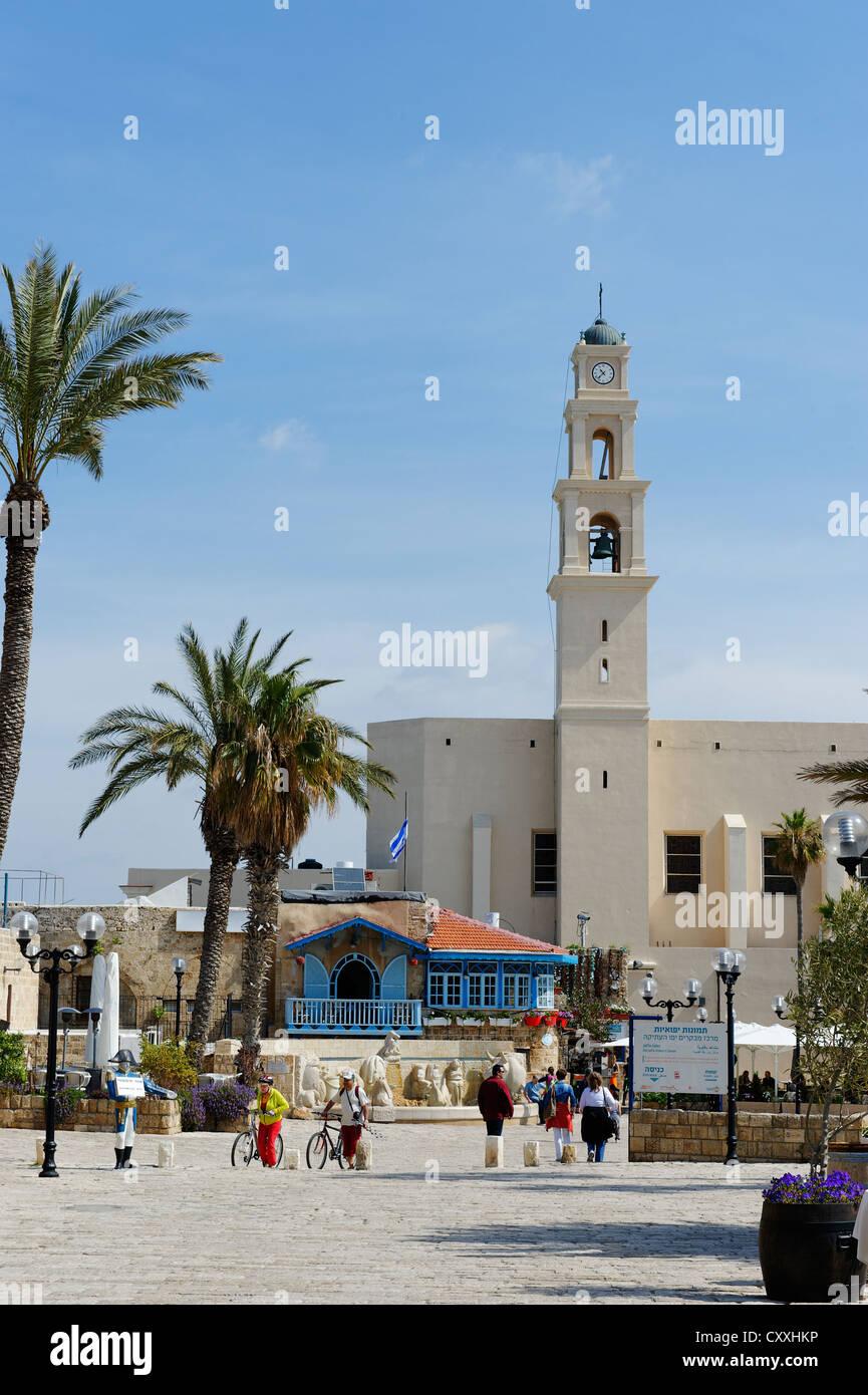 La iglesia de San Pedro, Jaffa, Tel Aviv, Israel, Oriente Medio Imagen De Stock