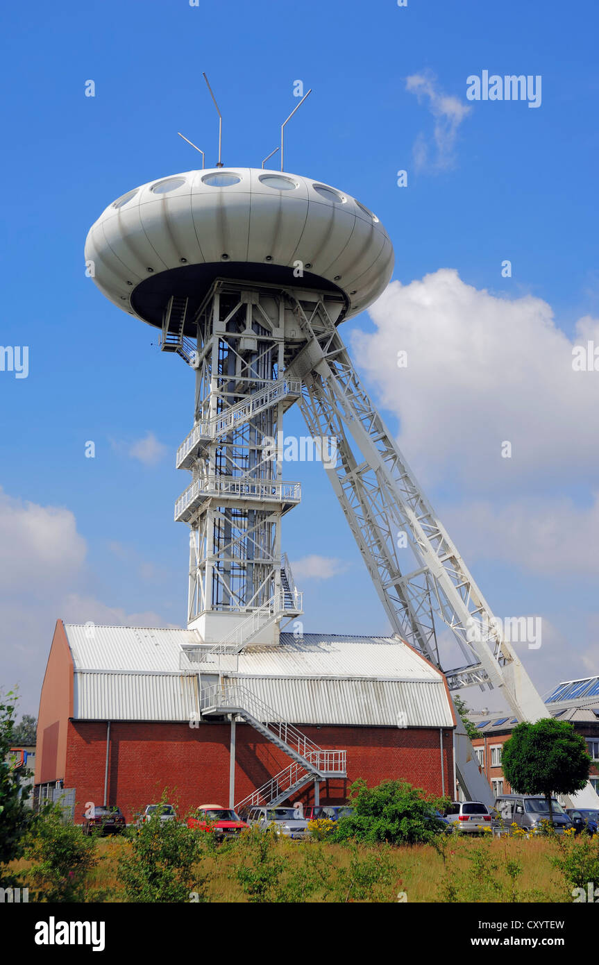 Colani OVNI, una antigua torre del eje del Ministro Achenbach IV mina de carbón, diseñada por Luigi Colani, Imagen De Stock