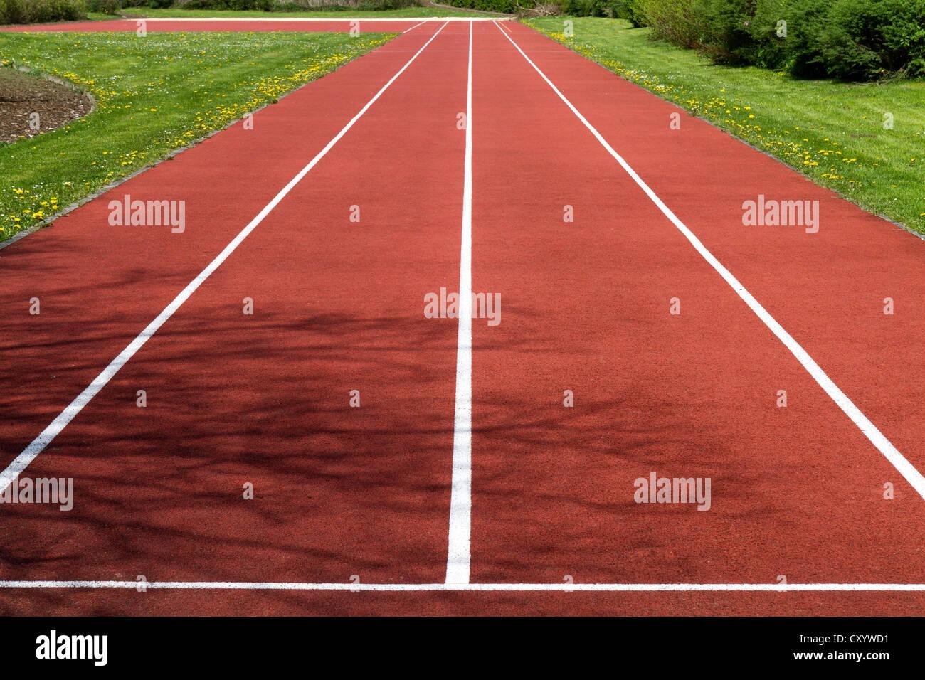 Pista de atletismo con dos carriles Imagen De Stock