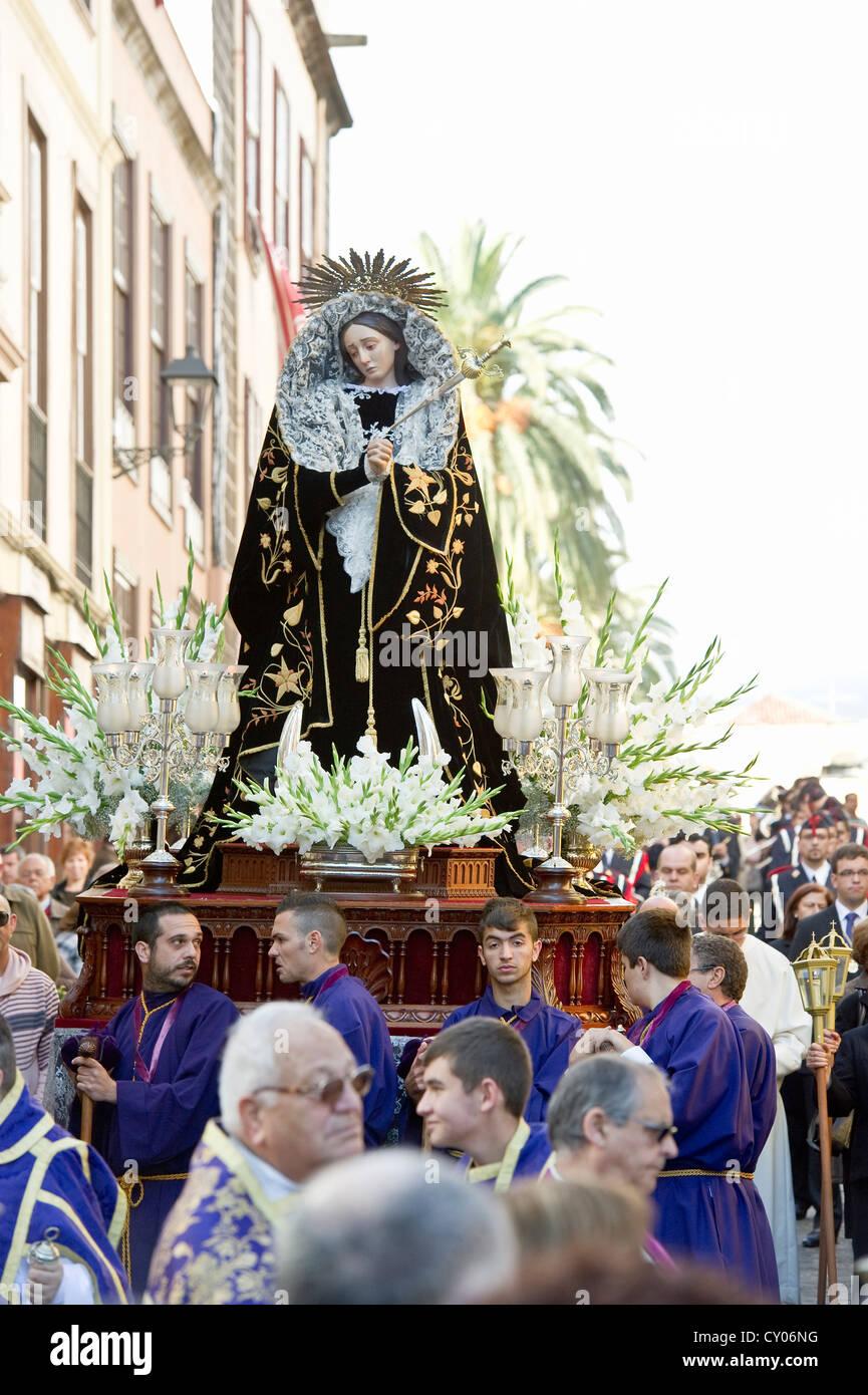 Procesiones, la Semana Santa, La Orotava, Tenerife, Islas Canarias, España, Europa Foto de stock