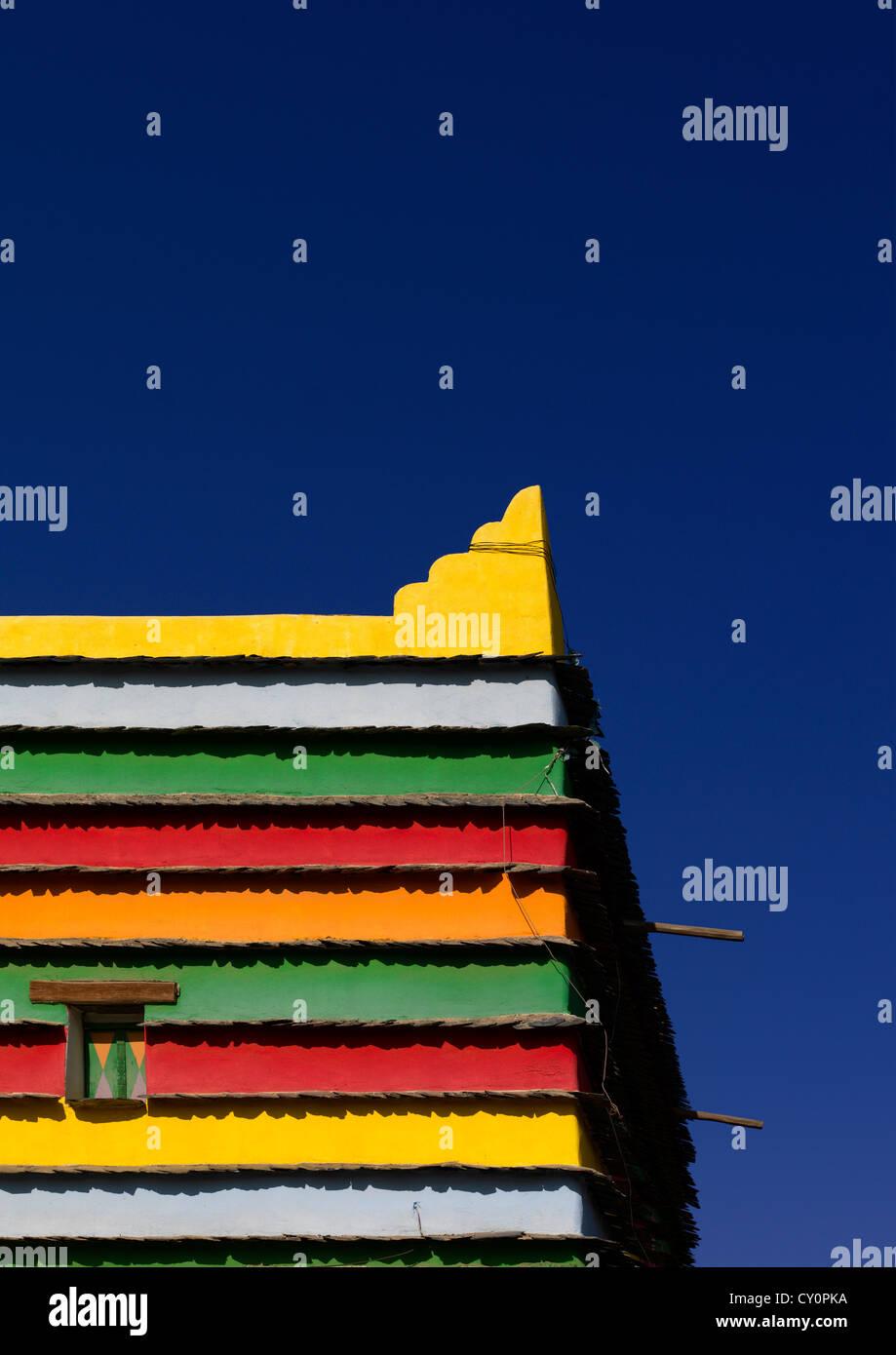 Bin Hamsan Decoración Casa, área de Asir, Arabia Saudita Imagen De Stock