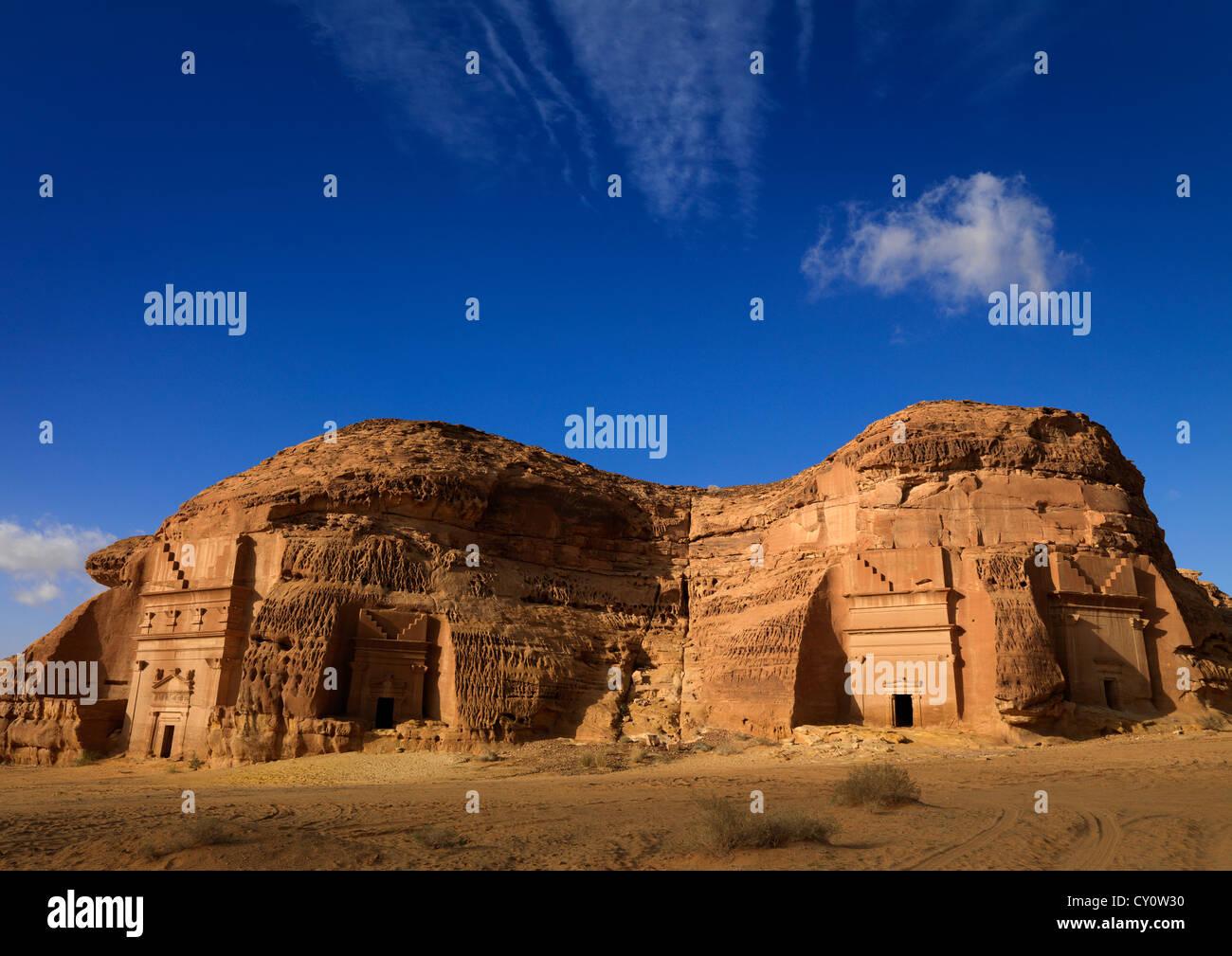 Madain Saleh emplazamiento arqueológico, Arabia Saudita Imagen De Stock