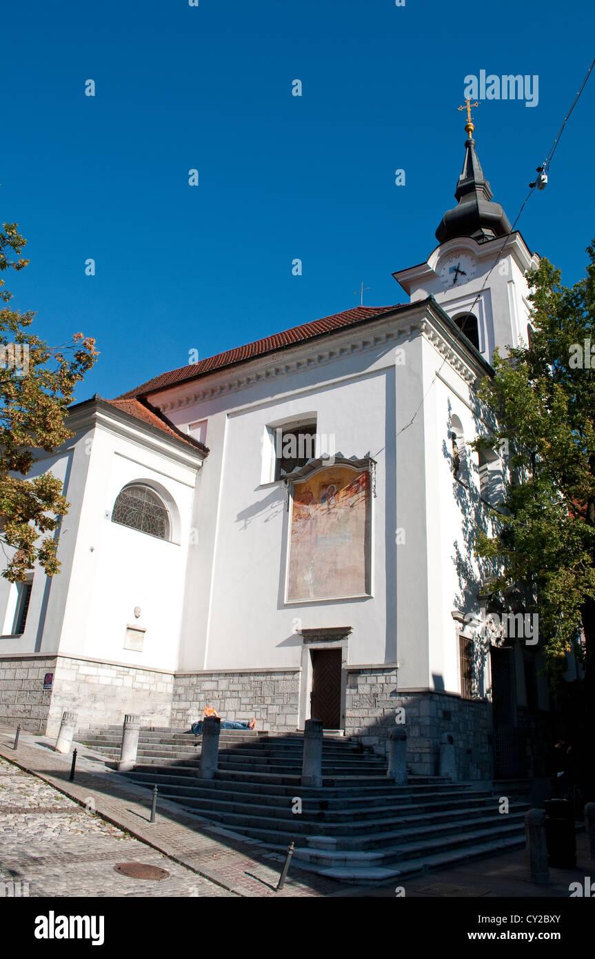 La Iglesia de San Florián, Old Town, Ljubljana, Eslovenia Foto de stock
