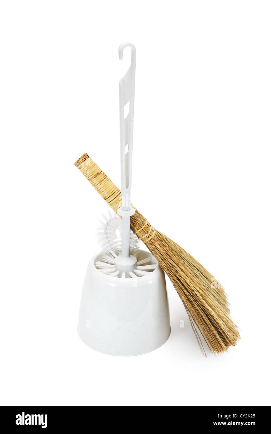 Cepillo Con Mango Largo Para Limpiar El Inodoro Y La Escoba  ~ Como Limpiar El Fondo Del Inodoro