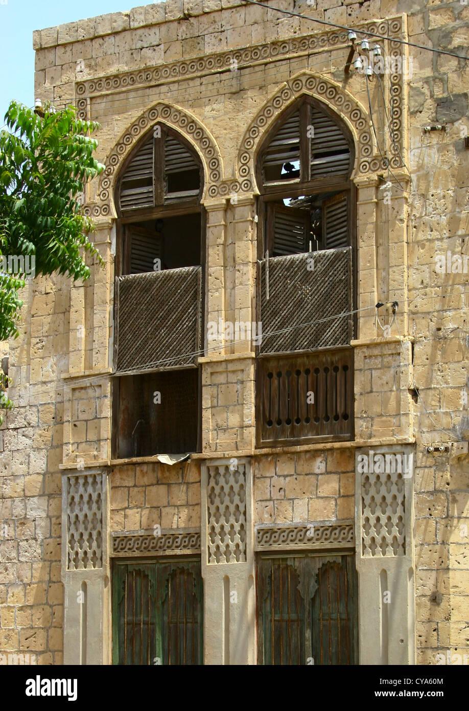 Edificio otomano en Massawa, Eritrea Foto de stock