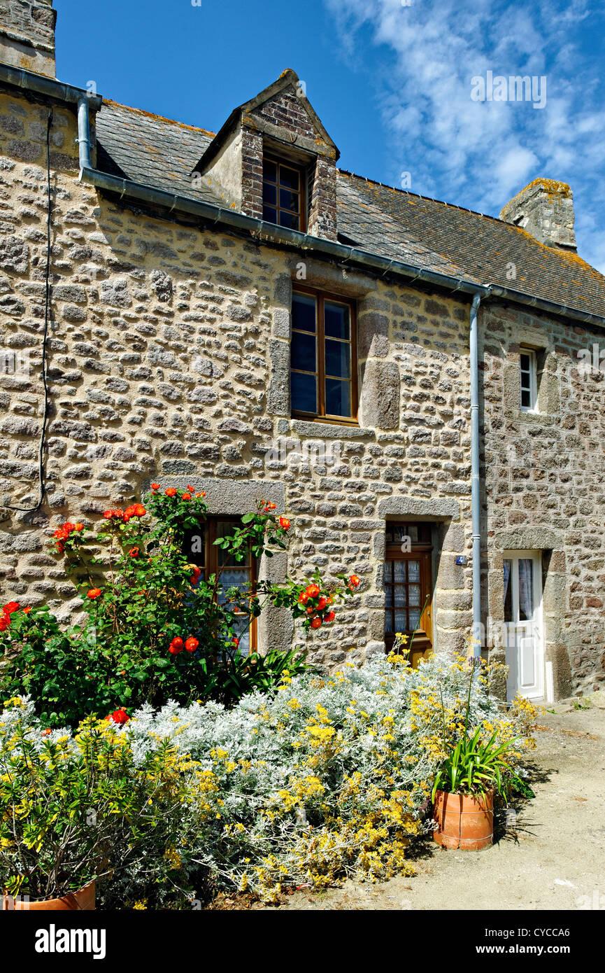 Vivienda de Barfleur, Normandía, Francia. Foto de stock