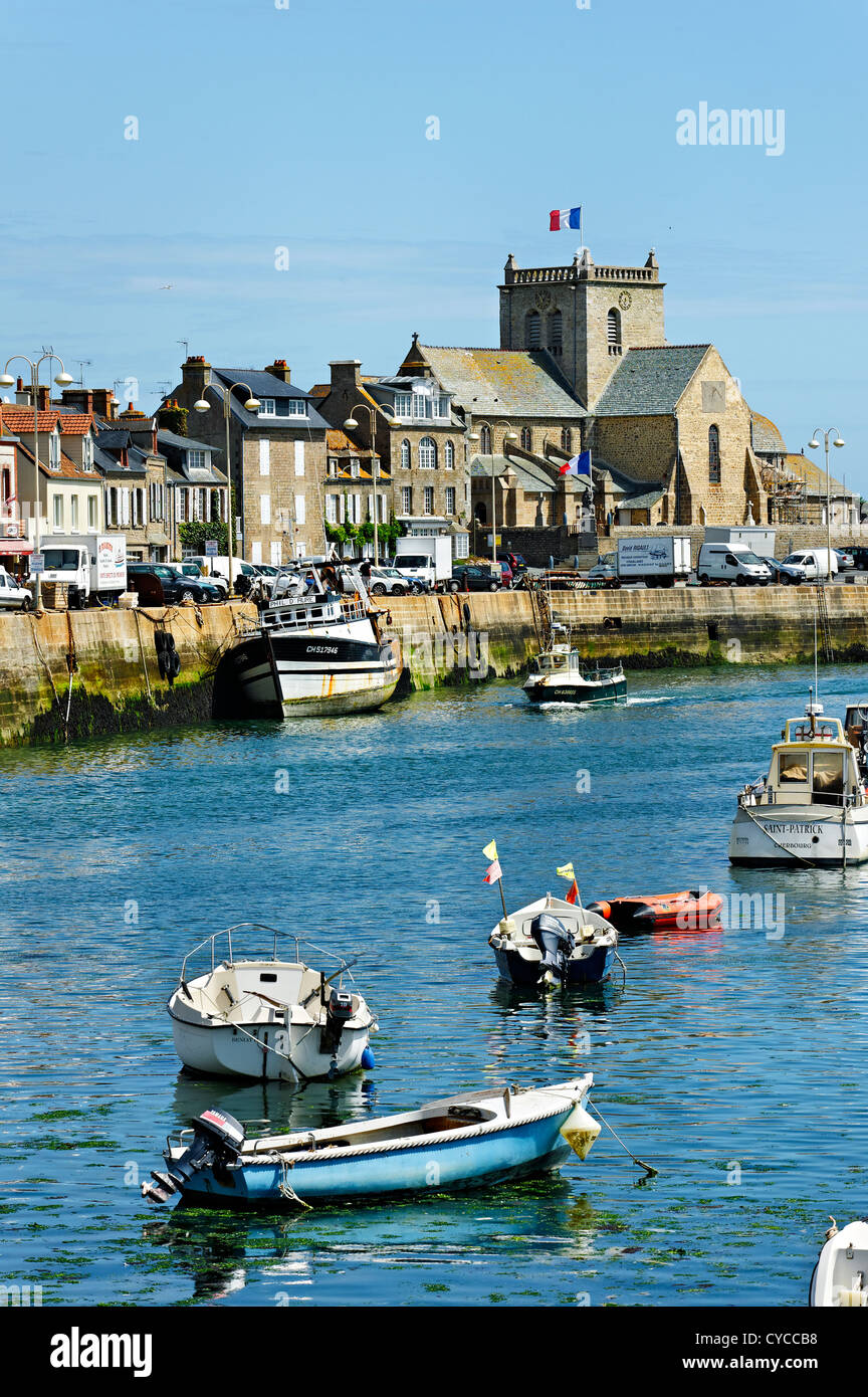 Puerto de Barfleur, Normandía, Francia. Foto de stock