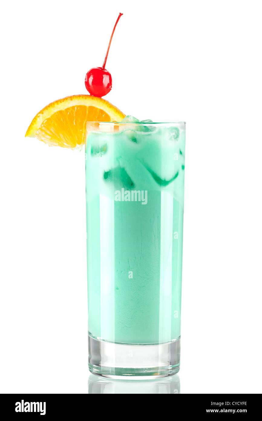 12334e8af Colección de cócteles  Azul leche. Aislado sobre fondo blanco Foto ...