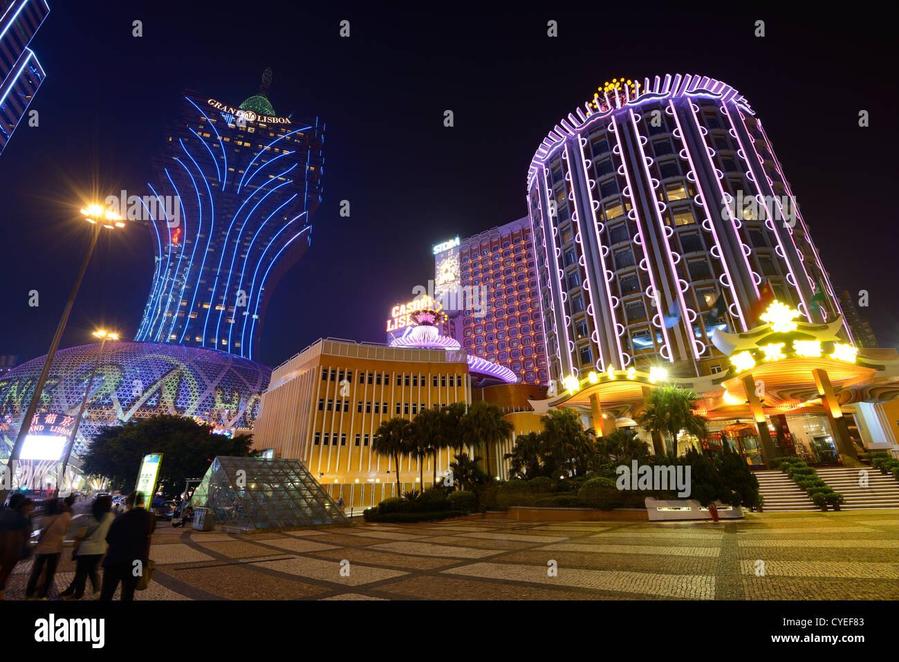 Edificios en Macao, China. Imagen De Stock