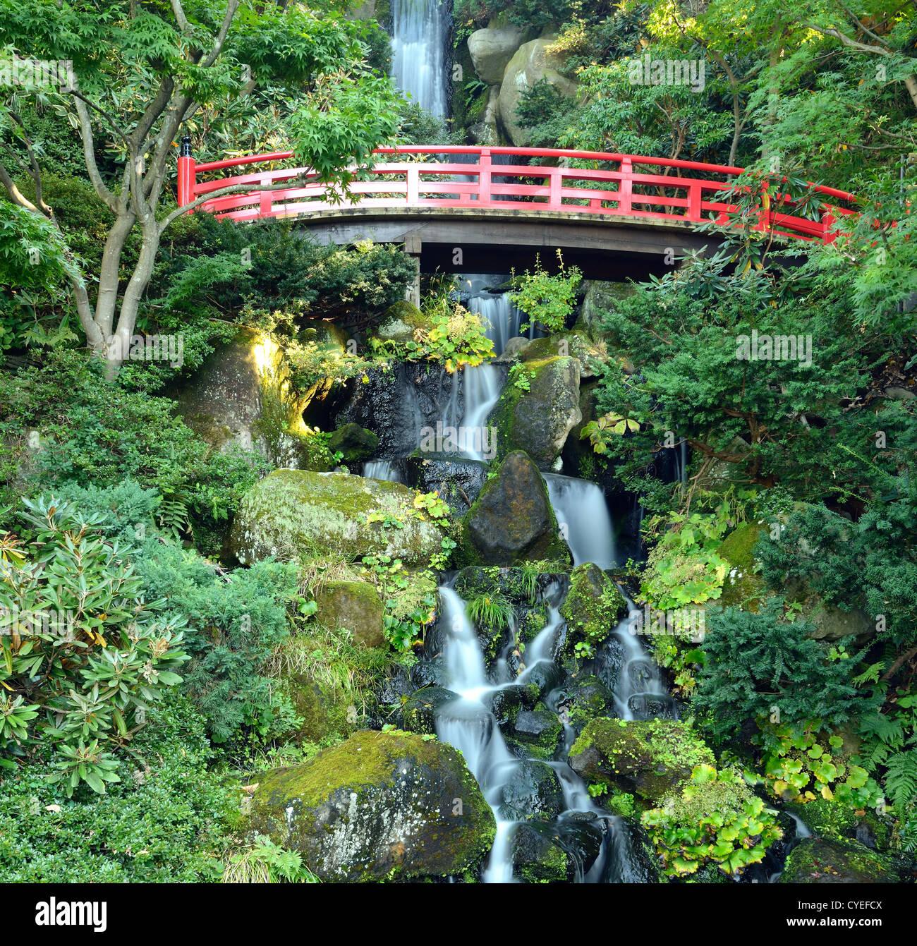Cascada escénicos japoneses en Hirosaki, Japón. Imagen De Stock