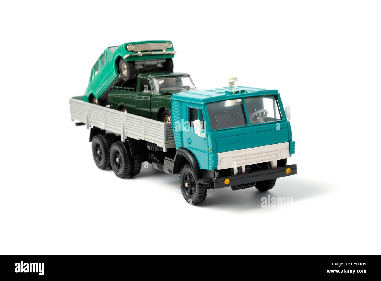 Coches Juguete Sobre En La Atrás Camión Parte De Del SpVUzM