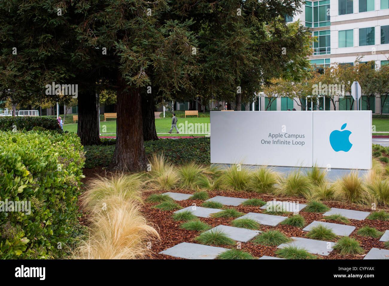 La sede de Apple Computer, 1 Infinite Loop. Foto de stock