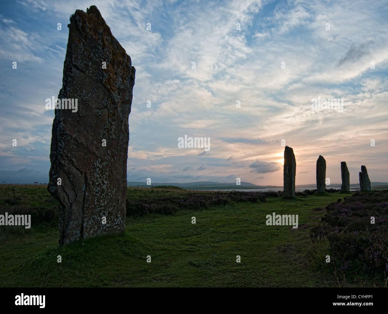 El anillo de Brodgar Stone Circle Orkney Foto de stock