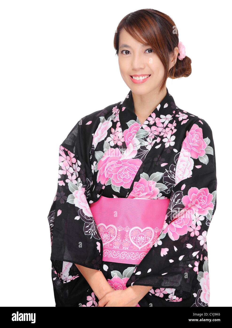 Foreign Garment Girl Japan Kimono Lady Look One Portrait Imágenes De ...