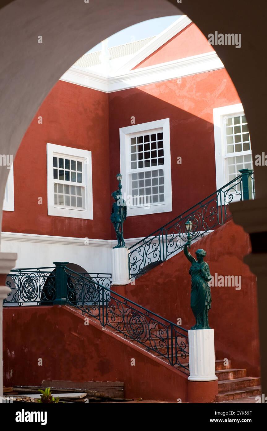 Museo del Palacio de los gobernadores interior, Ilha de Mozambique Mozambique Imagen De Stock
