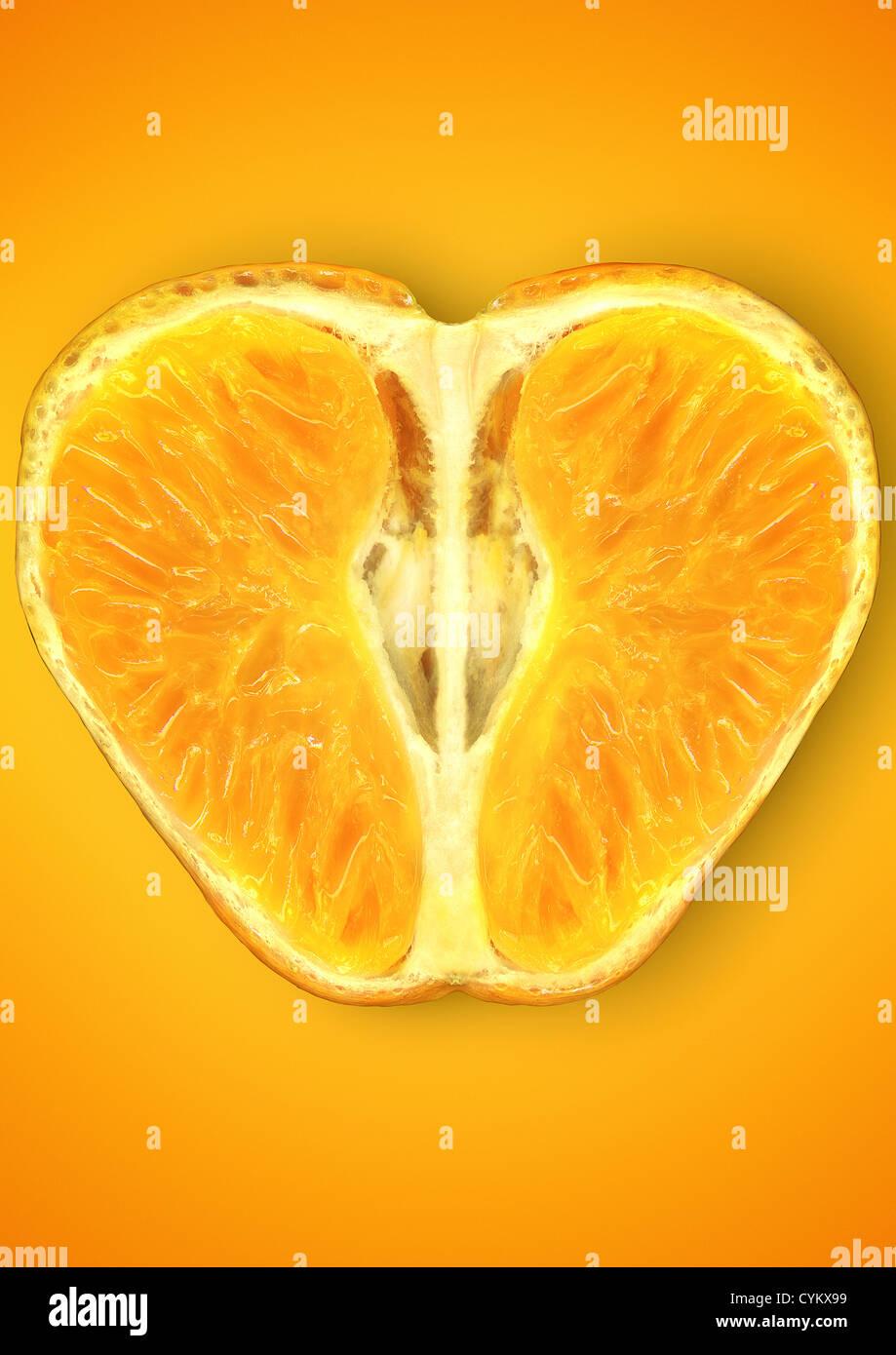 Cerca de la mitad naranja Imagen De Stock