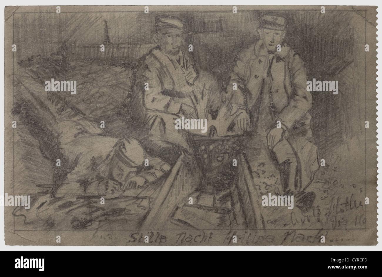 Adolf Hitler Un Dibujo Para El Traficante De Armas De Munich Adam