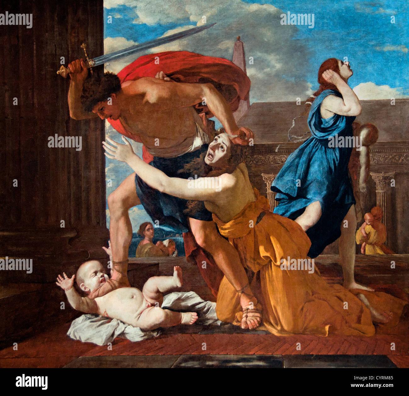 La matanza de los Inocentes 1628-29 por Nicolas Poussin 1594-1665 Francia Foto de stock