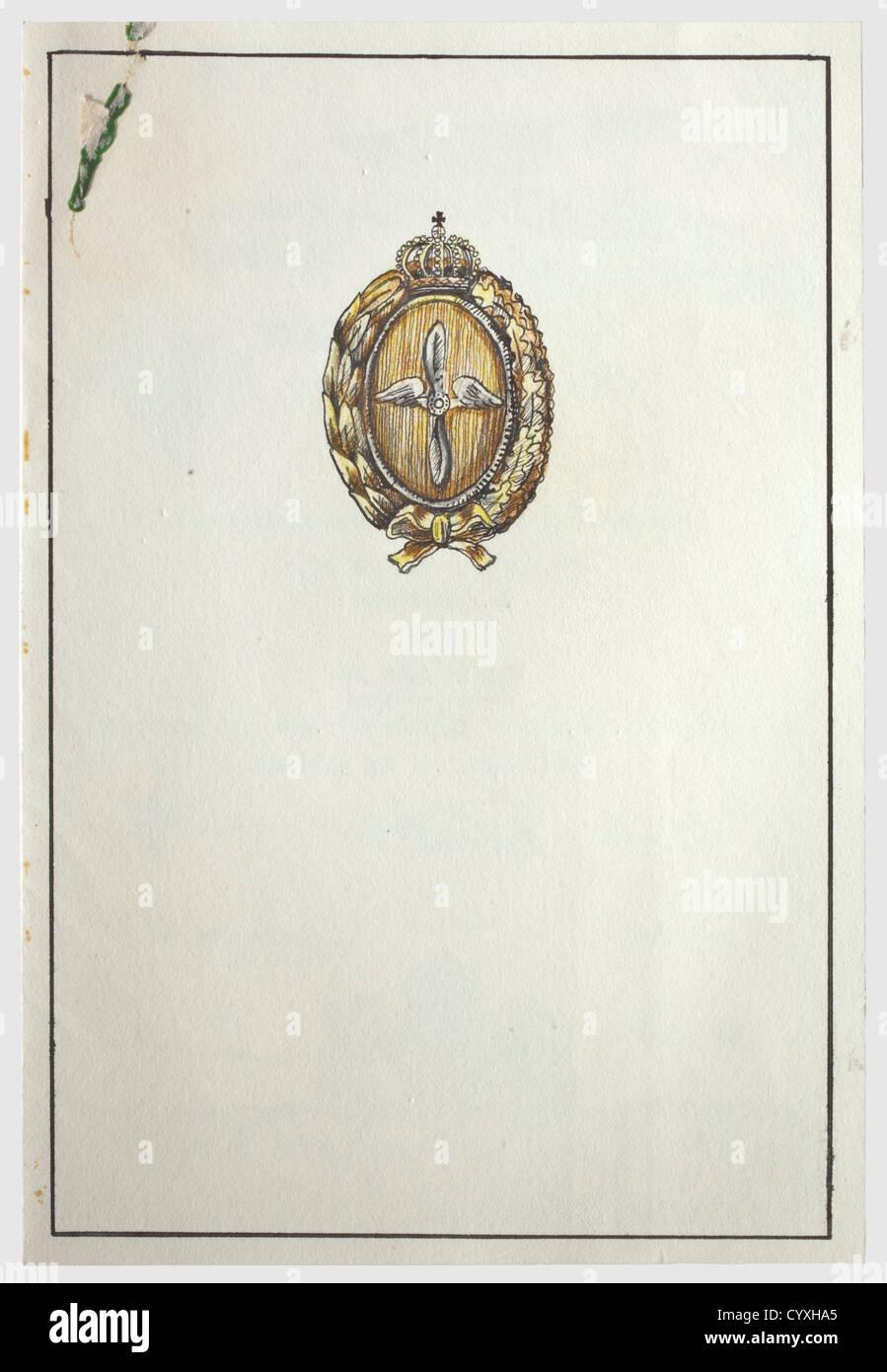 Hauptmann Hermann Göring, una tarjeta de felicitación de ex camaradas en su cumpleaños 1933 de doble Imagen De Stock
