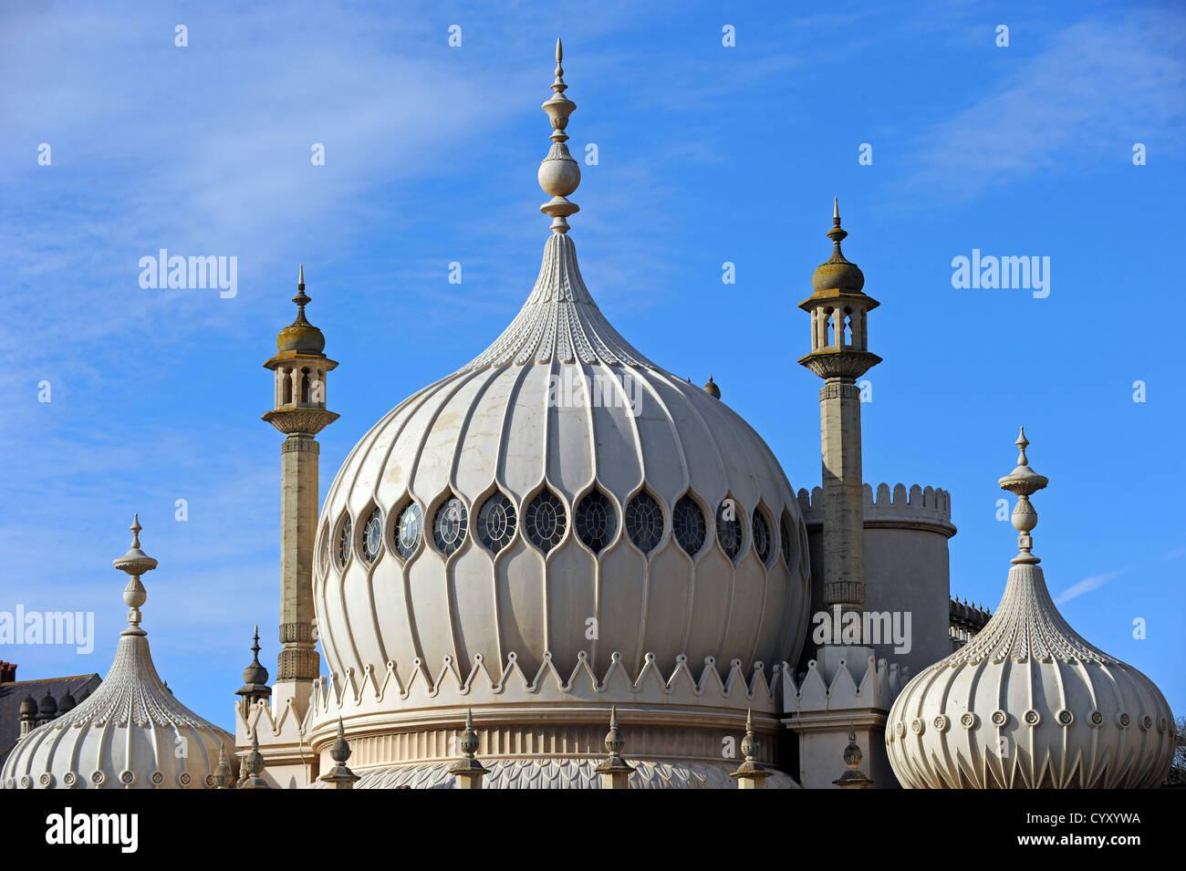 Brighton Royal Pavilion el espectacular Regency Palace, construido para el Príncipe Regente Jorge IV Imagen De Stock