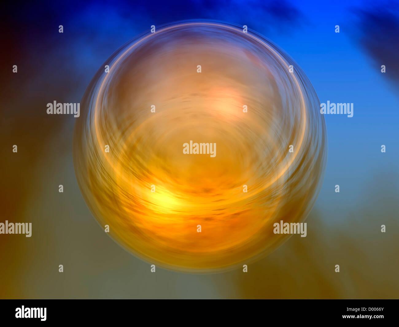 Una ilustración 3d de una burbuja Imagen De Stock
