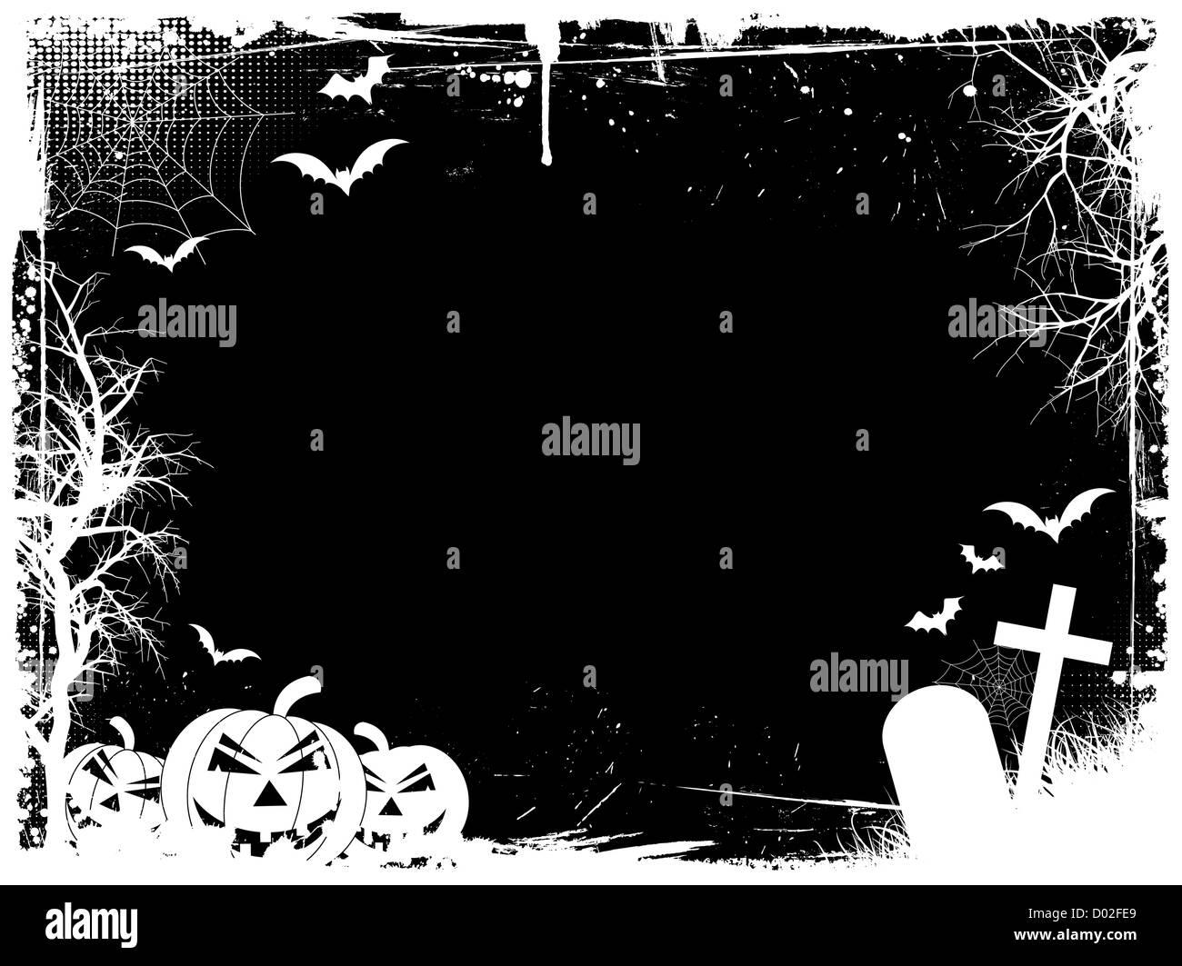 Grunge Halloween frontera Imagen De Stock