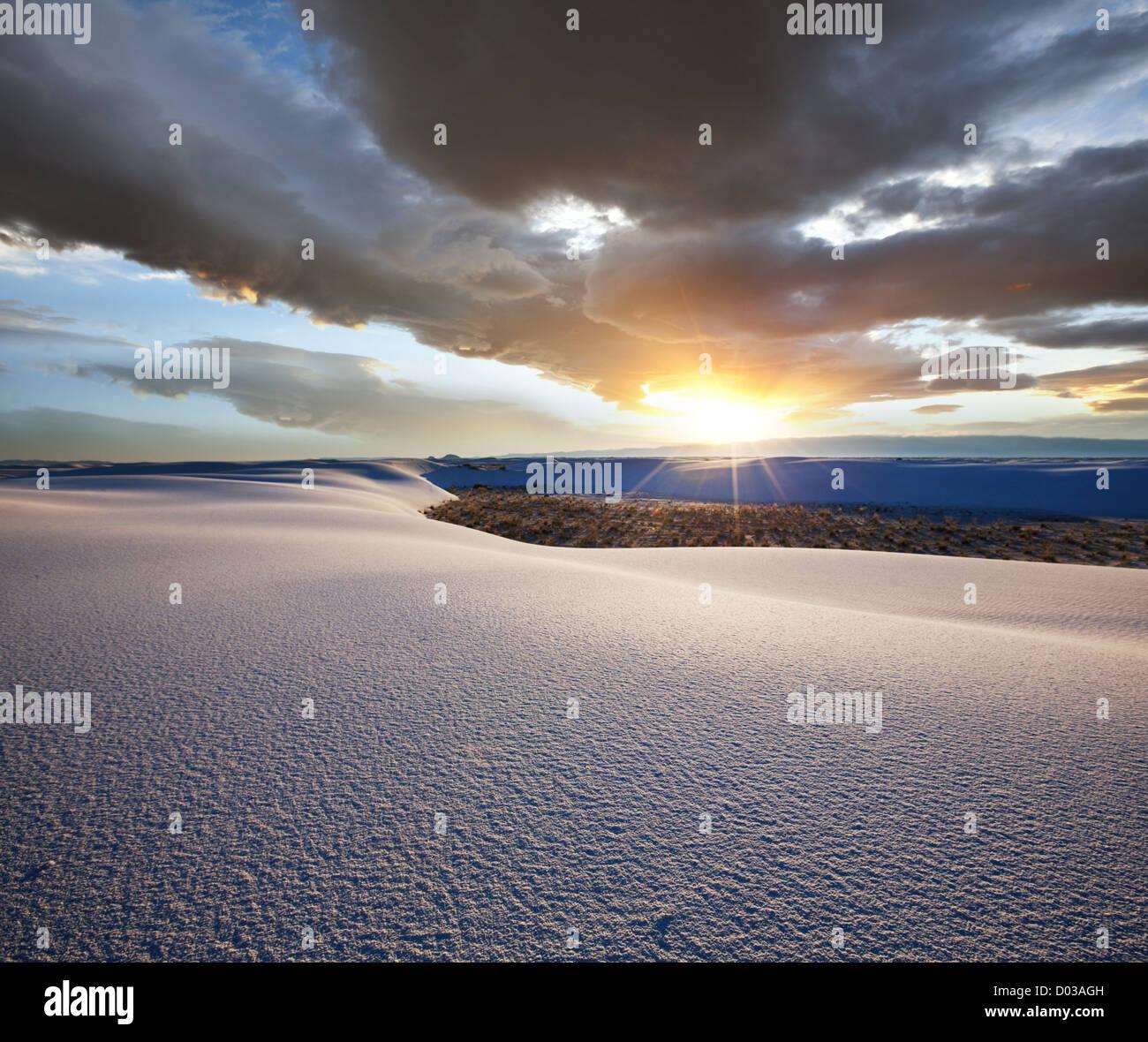 Parque de arenas blancas en EE.UU. Imagen De Stock