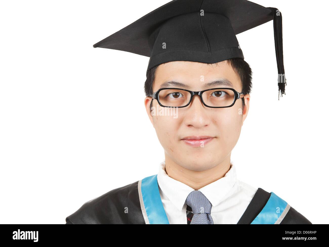 83ec45371 Joven hombre asiático graduación Foto   Imagen De Stock  51781346 ...