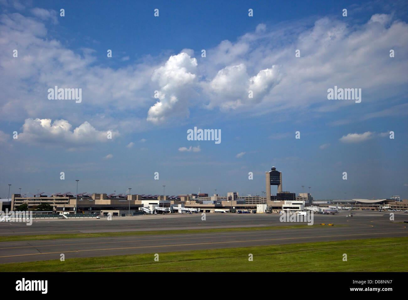 El Aeropuerto Internacional Logan de Boston, EE.UU. Imagen De Stock