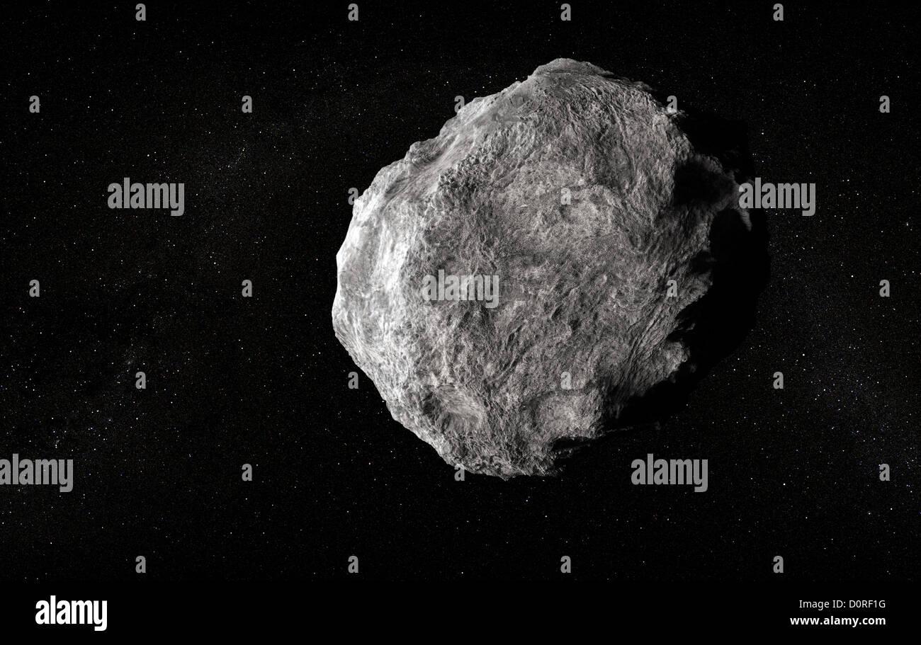 Gran planetoide en espacio vacío Imagen De Stock