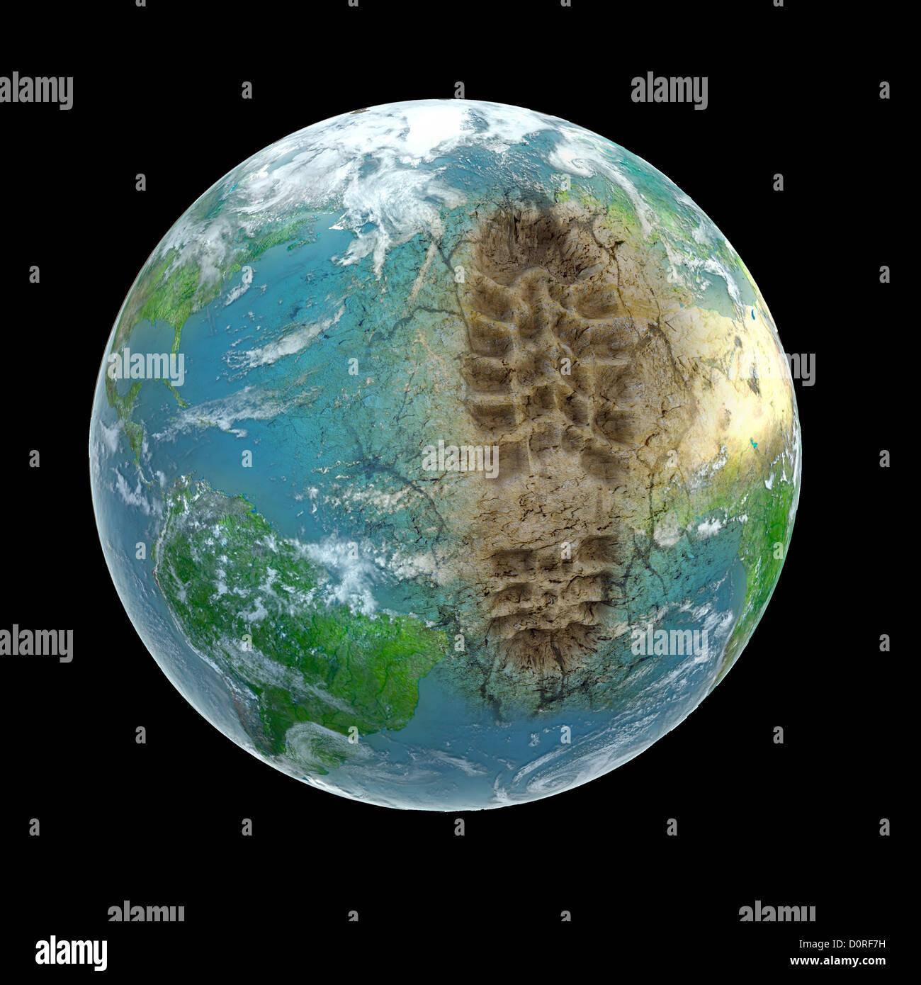 Huella ecológica Imagen De Stock